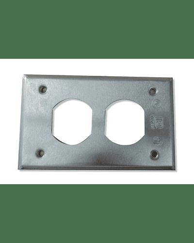 Tapa para contacto Duplex 4T  TR-0385
