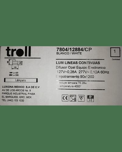 LUMINARIA TROLL CON DISFUSOR 28W T5 MOD. 7804/128/84