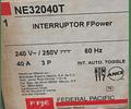 Interruptor Termomagnetico MOD. NE32040T MCA. FEDERAL PACIFIC