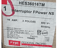 Interruptor MOD. HES36016TM MCA. FEDERAL PACIFIC