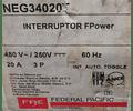Interruptor Termomagnetico MOD. NEG34020T MCA. FEDERAL PACIFIC