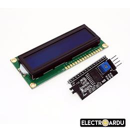 LCD 1602 Azul Modulo I2C