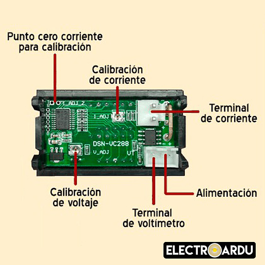 Voltimetro Amperimetro DC 0-100v 10A