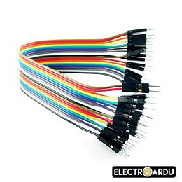 Pack 40 Cables Dupont 20cm  Macho a Macho