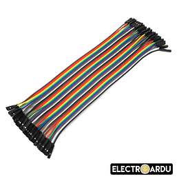 Pack 40 Cables Dupont 20cm Hembra a Hembra