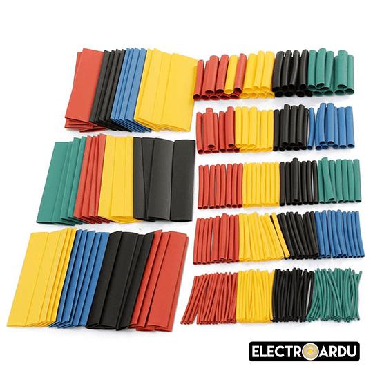Pack 328 Tubos Termocontraible Termoretractil 5 Colores