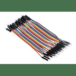Pack 40 Cables Dupont 10cm Macho Macho