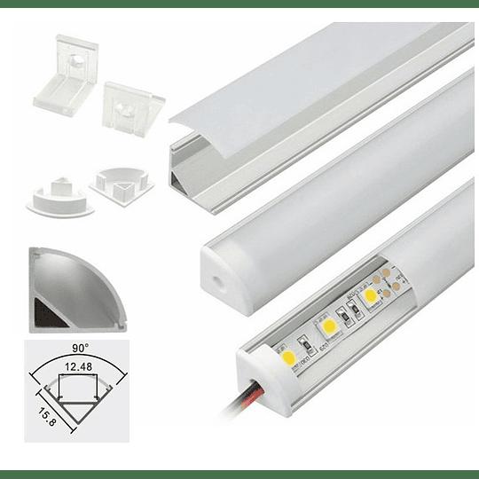 Perfil de Aluminio Difusor Angular Esquinero