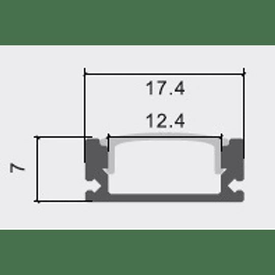 Perfil de Aluminio Difusor Recto Plano