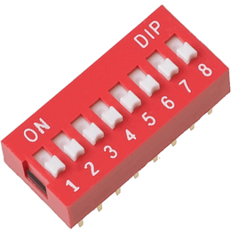 Dip Switch Interruptor 8 Posiciones