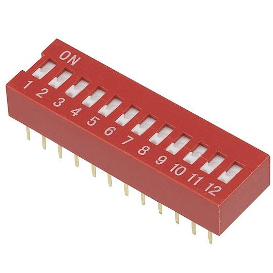 Dip Switch Interruptor 12 Posiciones