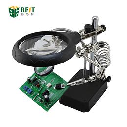 Base Tercera Mano Lupa LED Soporte Cautin Modelo 800