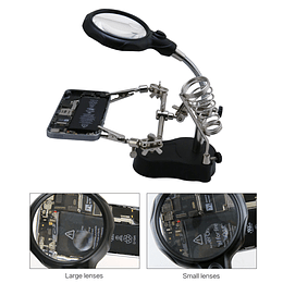 Base Tercera Mano Lupa LED Soporte Cautin Modelo 801