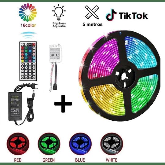 Tira Led RGB Cinta 5m Control 44 Botones Transformador