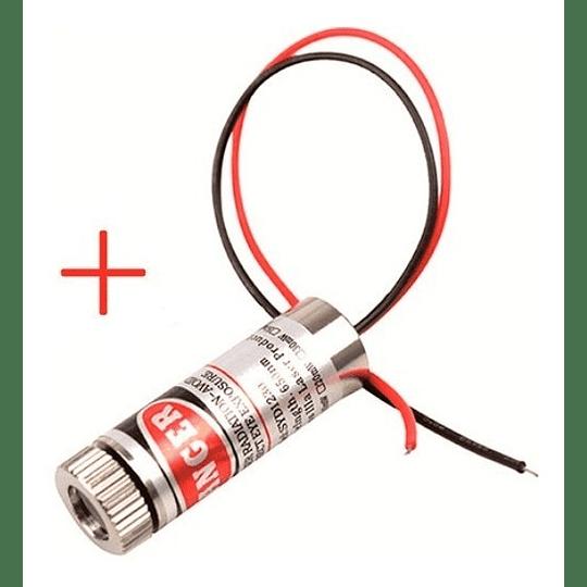 Diodo Laser Cruz 650nm 5mw 5v Foco Ajustable