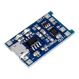 Módulo de Carga TP4056 Micro USB 5V 1A 18650