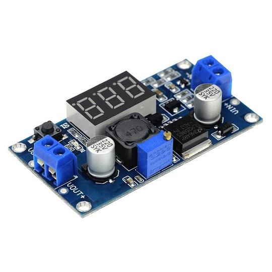 Módulo Step Down Regulador de Voltaje DC DC LM2596 3A Voltimetro LED