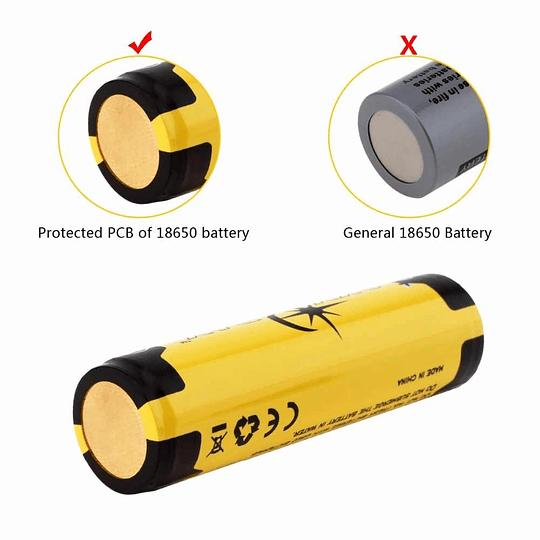 Bateria Recargable 3.7v Sky Ray 18650 3400mah Proteccion