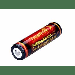 Batería Recargable 3.7v Trustfire Infierno 18650 3400mah Proteccion