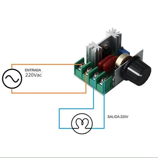 Dimmer Regulador de Voltaje Control Velocidad AC 220v 2000w