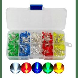 Kit 50 Diodos LED 5mm Ultrabrillantes + Resistencias + Caja