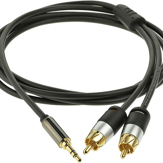 Cable de audio Mediabridge -  de 3.5 mm a (2) RCA  1,8mts