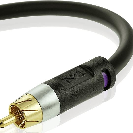 Cable Coaxial Subwoofer Mediabridge Serie Ultra RCA a RCA 1.8mts