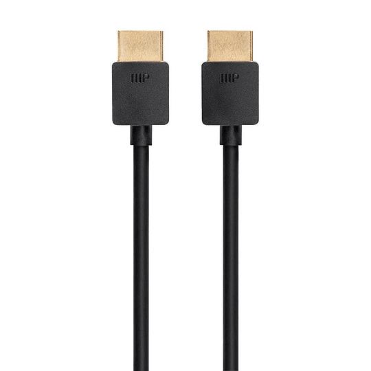 Cable Monoprice Ultra Slim Series Ultra 8K High Speed HDMI Cable, 48Gbps, 8K, Dynamic HDR, eARC, 3ft Black