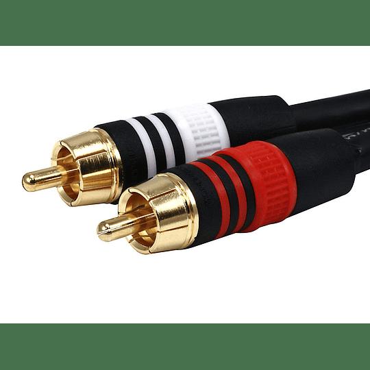 Cable Monoprice Premium 2 RCA Plug/2 RCA Plug  22AWG  45cms
