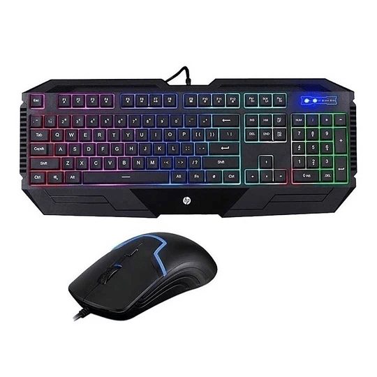 Teclado Y Mouse Hp Gamer Iluminado Hp Gk1100