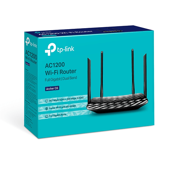 Router TP-Link Archer C6 Wi-Fi AC1200 Dual Band