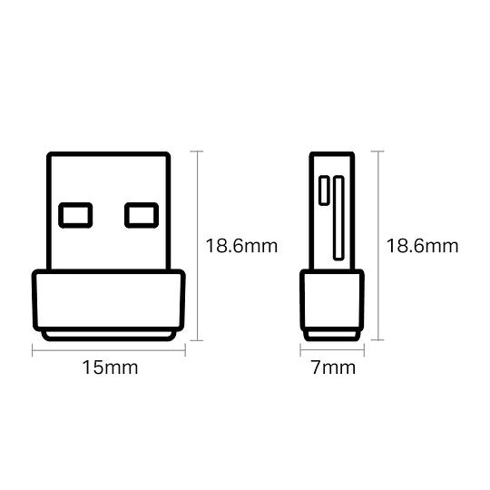 Adaptador Wifi Usb Dual Band AC600 Tp-link Archer T2u Nano