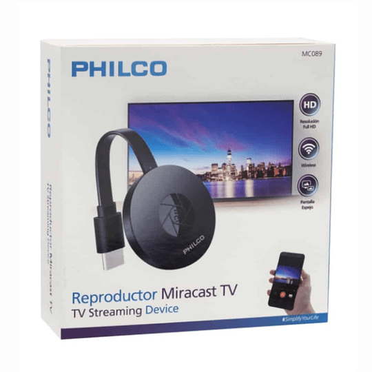 Reproductor Philco Miracast TV- HDMI WIFI