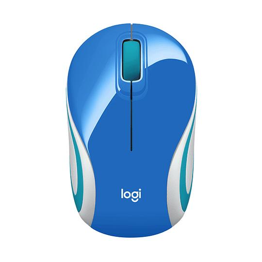 Mouse Inalámbrico Portátil Logitech M187 Azúl