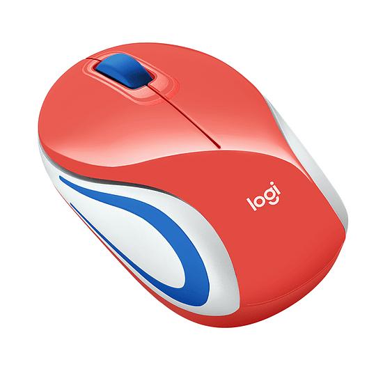 Mouse Inalámbrico Portátil Logitech M187 Coral