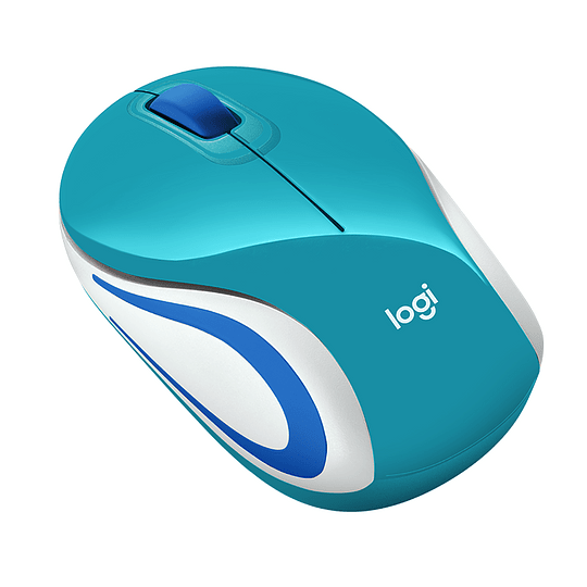 Mouse Inalámbrico Portátil Logitech M187 Celeste