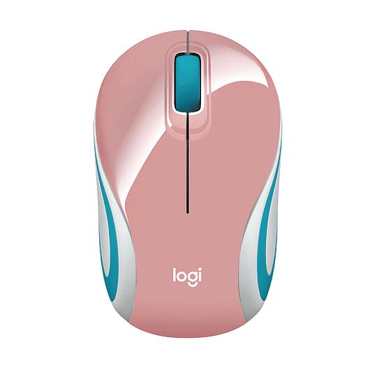Mouse Inalámbrico Portátil Logitech M187 Rosado