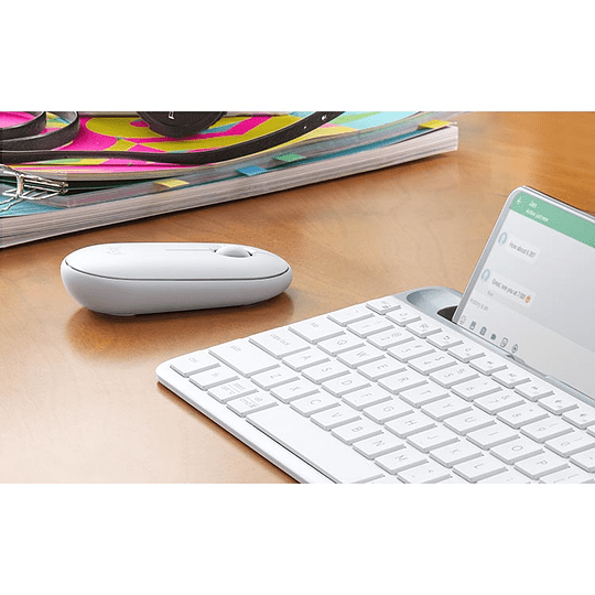 Mouse Bluetooth Logitech Pebble M350 Blanco