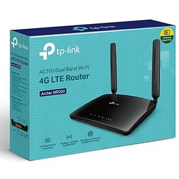 Router 3g/4g Chip Lte Wifi Lan Dual Band Ac750 Tp-link Mr200