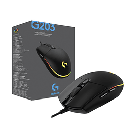 Mouse Gamer Logitech G203 Rgb Lightsync Negro