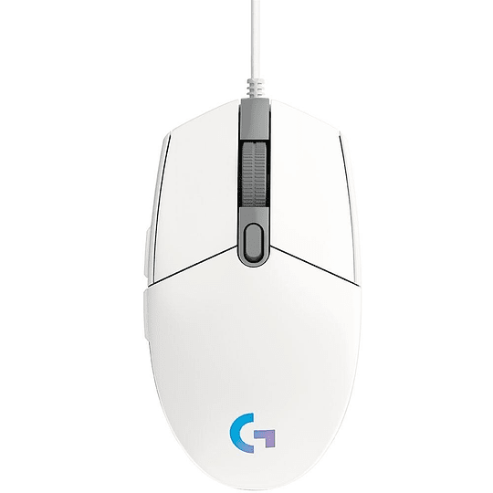 Mouse Gamer Logitech G203 Rgb Lightsync Blanco