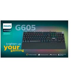Teclado Gamer Mecanico Philips G605 Rainbow