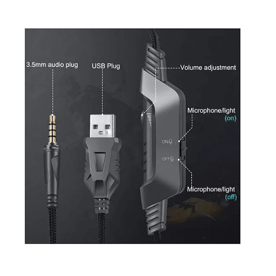 Audífonos Gamer K6 RGB - ElectroMundo