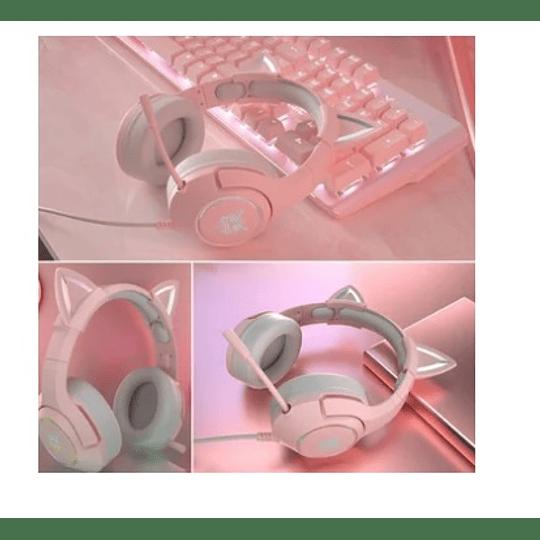 Audífonos Gamer Onikuma K9 Oreja de Gato Cancelación De Ruido - ElectroMundo.