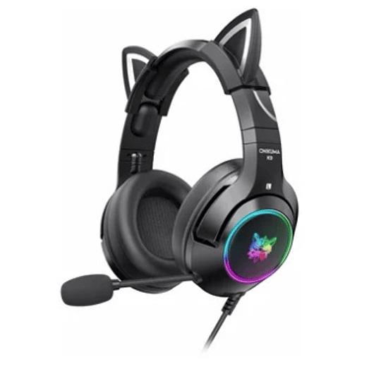 Auriculares para juegos ONIKUMA K9-Negro RGB - ElectroMundo.