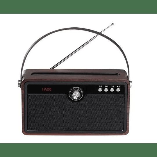 Parlante Audiolab 9819 Madera Bluetooth Fm - Electromundo