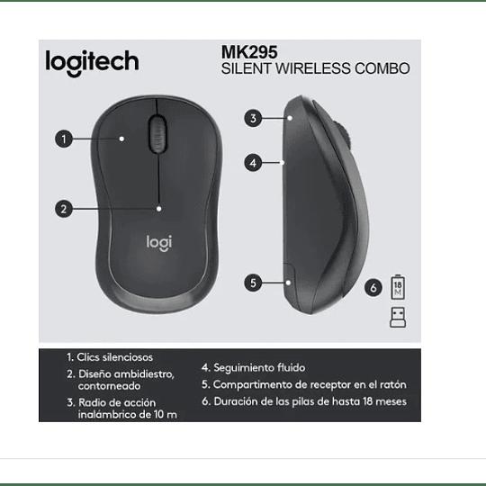 Teclado Y Mouse Inalámbrico Logitech Mk295 - Electromundo