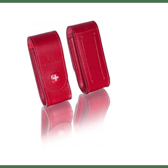 Estuche Cuero Rojo 91mm Victorinox 4.0520.1 - Electromundo