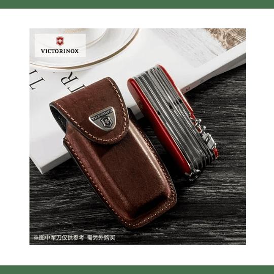 Estuche De Cuero Café 111mm Victorinox 4.0535 - Electromundo