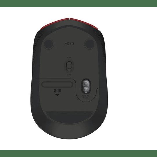 Mouse Inalambrico Logitech M170 Rojo - Electromundo